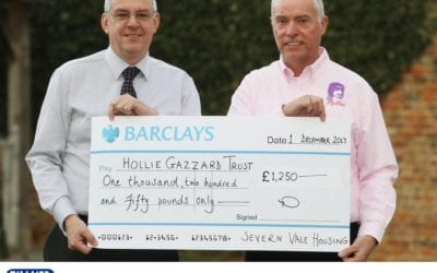 Severn Vale Housing staff raise £1250 to support Hollie Gazzard Trust