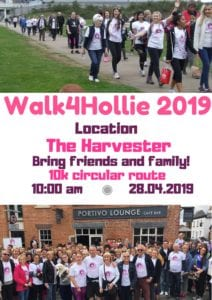 Walk4Hollie 2019 @ The Harvester