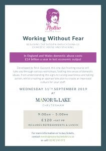 Working Without Fear @ Manor By The Lake | England | United Kingdom