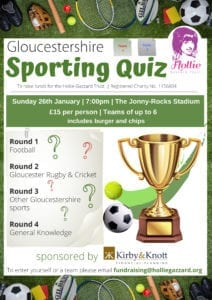 Gloucestershire Sports Quiz @ The Jonny-Rocks Stadium