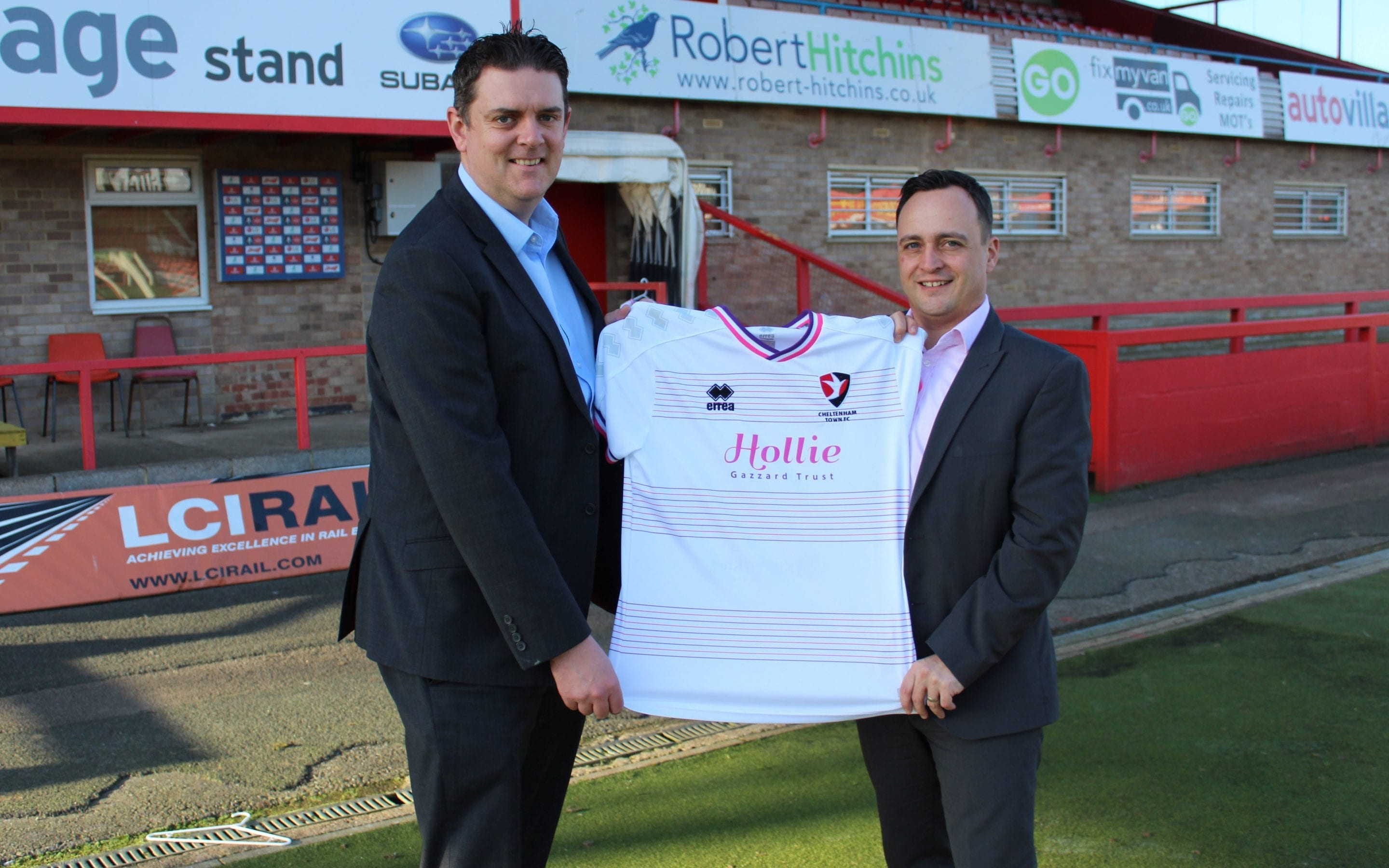 Kirby and Knott sponsor Hollie Gazzard Trust football shirt