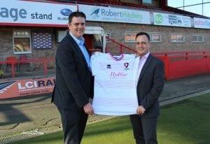 Kirby and Knott sponsor Hollie Gazzard Trust football shirt
